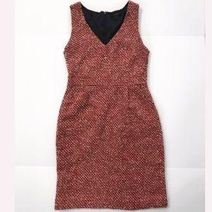Sleeveless midi dress tweed size 6 Chanel style